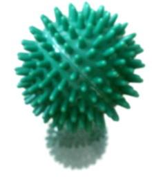 So ähnlich sieht - vielleicht - ein Grippevirus aus - bloss viel kleiner