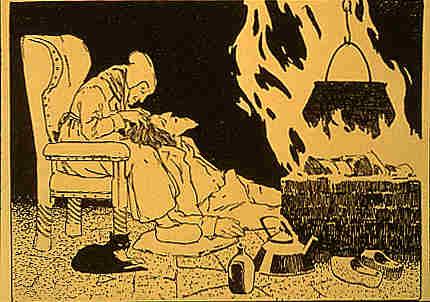 Teufel mit Großmutter in der Hölle - das Glückskind ist versteckt